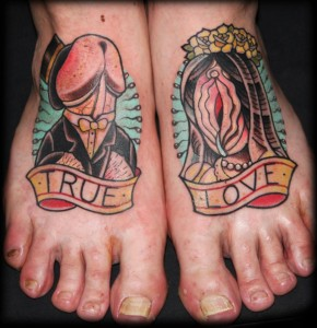 gross feet tattoos